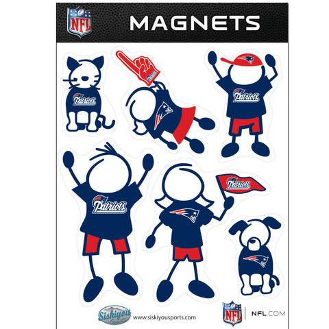 New England Patriots Family Magnet Set