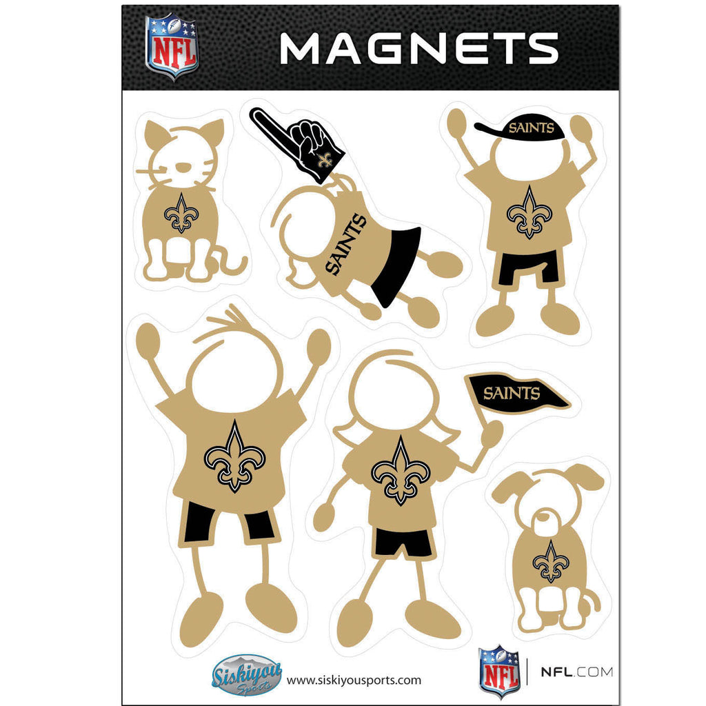 New Orleans Saints Family Magnet Set