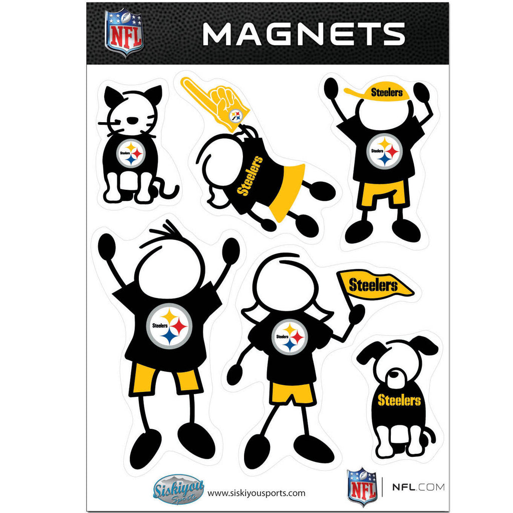 Pittsburgh Steelers Family Magnet Set