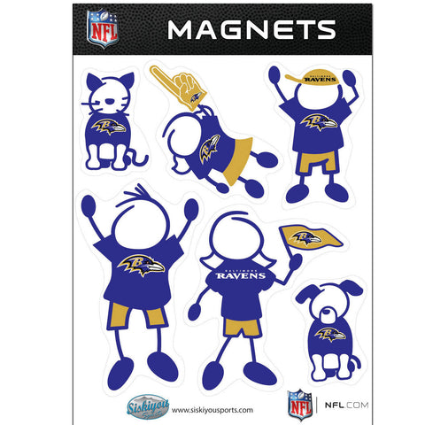 Baltimore Ravens Family Magnet Set