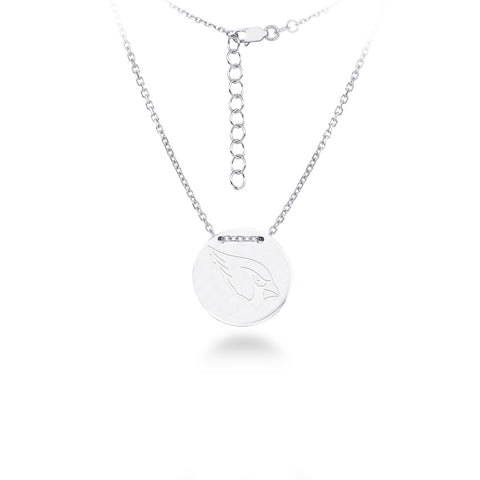 Arizona Cardinals Silver Necklace with Round Pendant