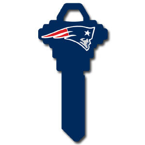 Schlage NFL Key - New England Patriots