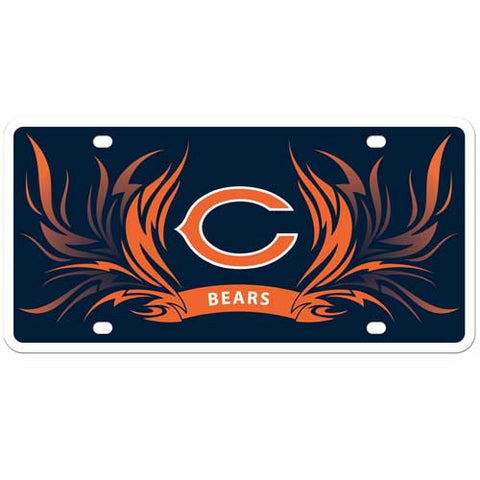 Chicago Bears Styrene License Plate