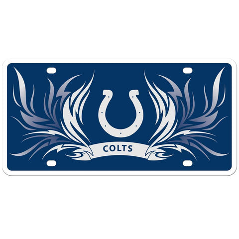 Indianapolis Colts Styrene License Plate