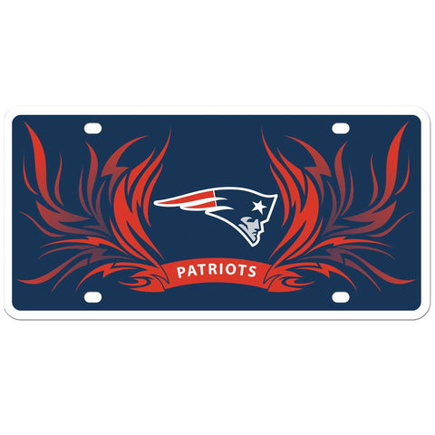 New England Patriots Styrene License Plate