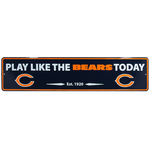 Chicago Bears Street Sign Wall Plaque