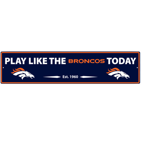 Denver Broncos Street Sign Wall Plaque
