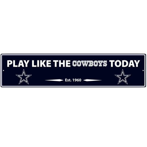 Dallas Cowboys Street Sign Wall Plaque