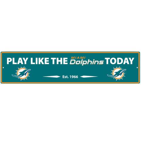 Miami Dolphins Street Sign Wall Plaque