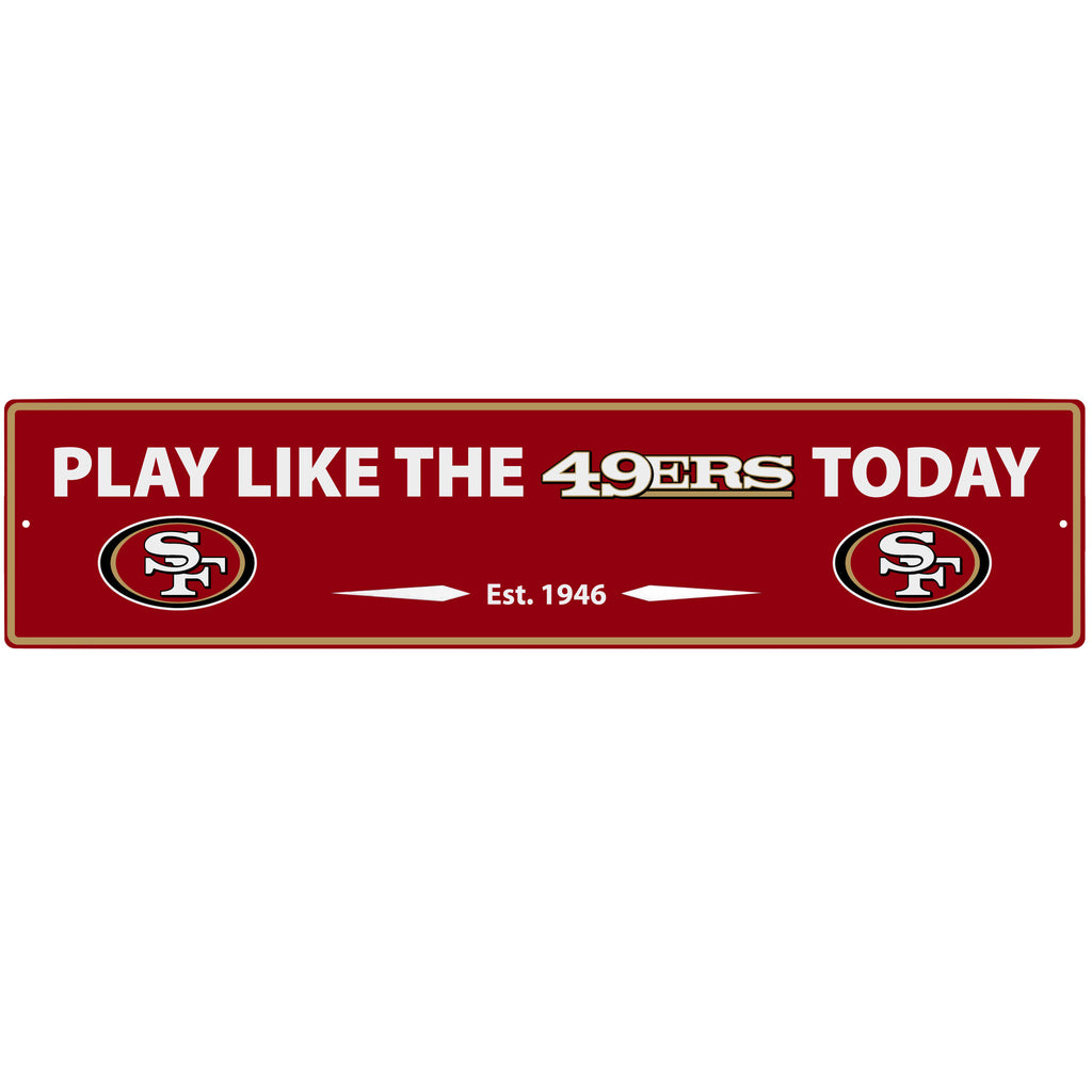 San Francisco 49ers Street Sign Wall Plaque