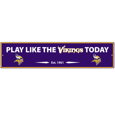 Minnesota Vikings Street Sign Wall Plaque