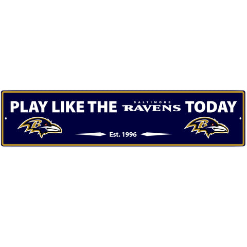 Baltimore Ravens Street Sign Wall Plaque