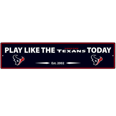 Houston Texans Street Sign Wall Plaque