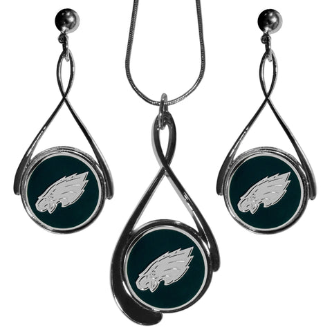 Philadelphia Eagles Tear Drop Jewelry Set