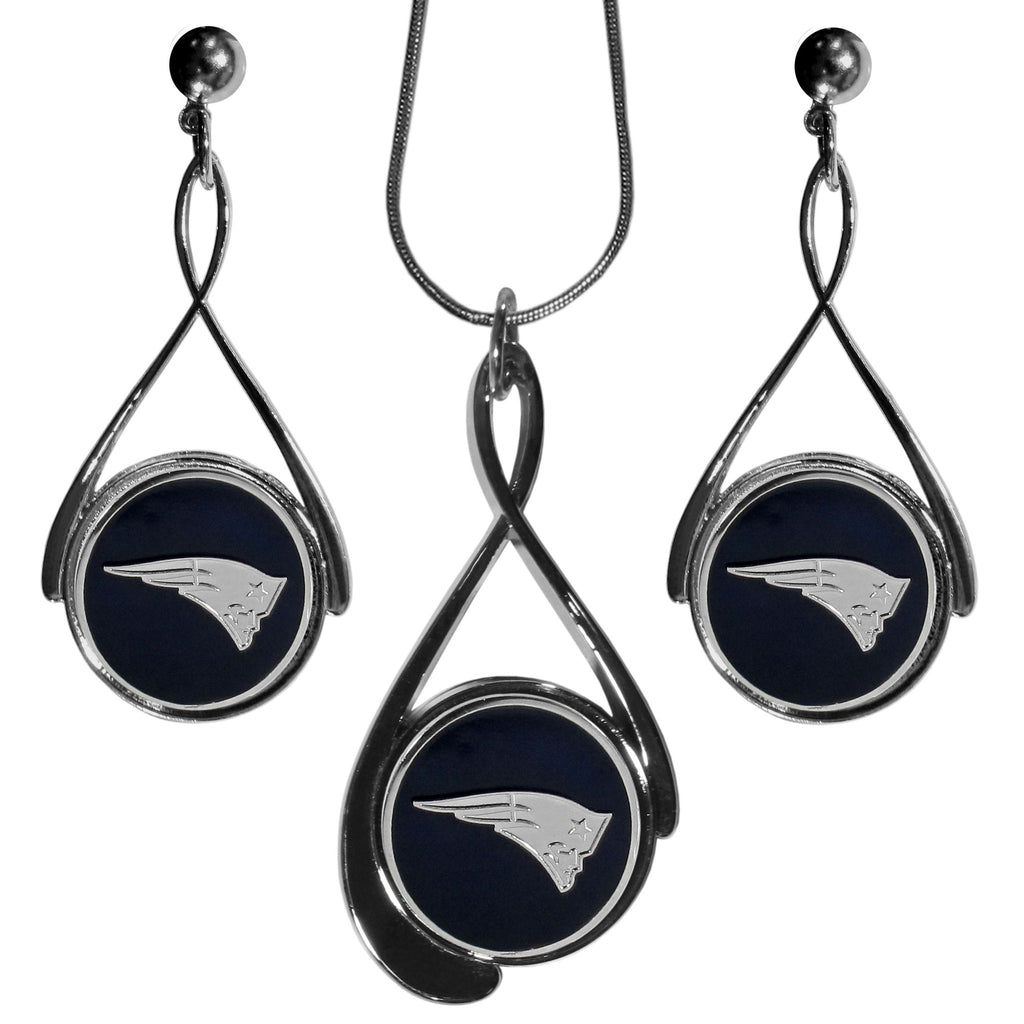 New England Patriots Tear Drop Jewelry Set