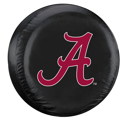 Alabama Crimson Tide NCAA Spare Tire Cover (Standard) (Black)