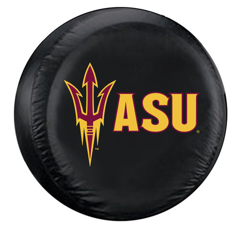 Arizona State Sun Devils NCAA Spare Tire Cover (Standard) (Black)