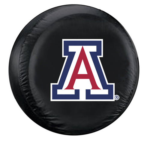 Arizona Wildcats NCAA Spare Tire Cover (Standard) (Black)
