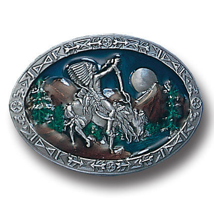 Chief Joseph  Enameled Belt Buckle