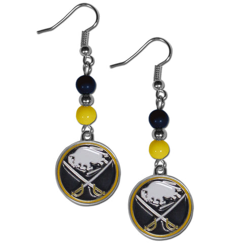 Buffalo Sabres® Fan Bead Dangle Earrings