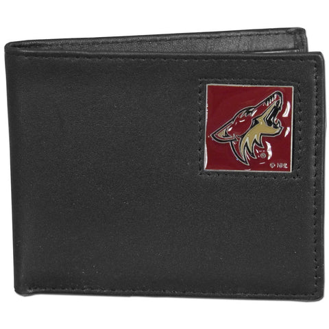 Arizona Coyotes® Leather Bi-fold Wallet Packaged in Gift Box