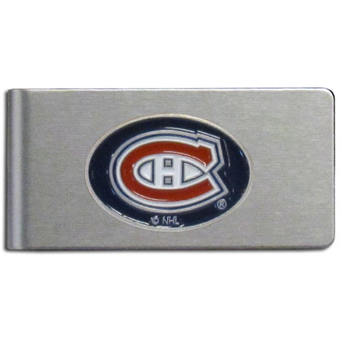 Montreal Canadiens® Brushed Metal Money Clip