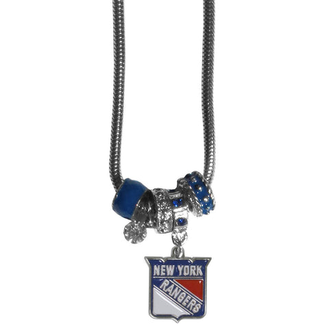 New York Rangers® Euro Bead Necklace