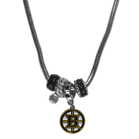 Boston Bruins® Euro Bead Necklace