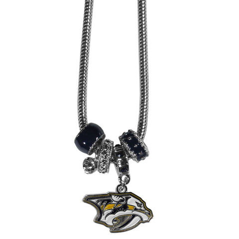 Nashville Predators® Euro Bead Necklace