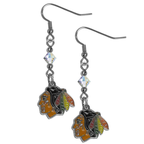 Chicago Blackhawks® Crystal Dangle Earrings