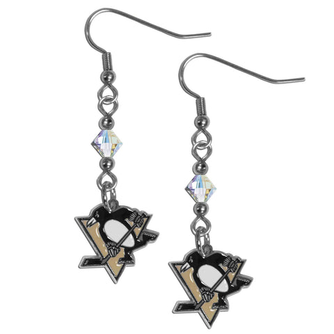 Pittsburgh Penguins® Crystal Dangle Earrings