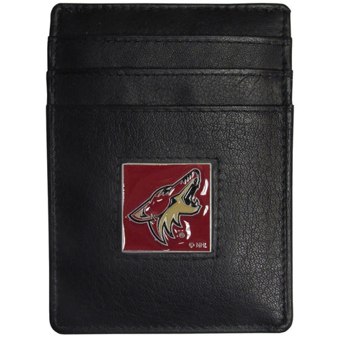 Arizona Coyotes® Leather Money Clip/Cardholder Packaged in Gift Box