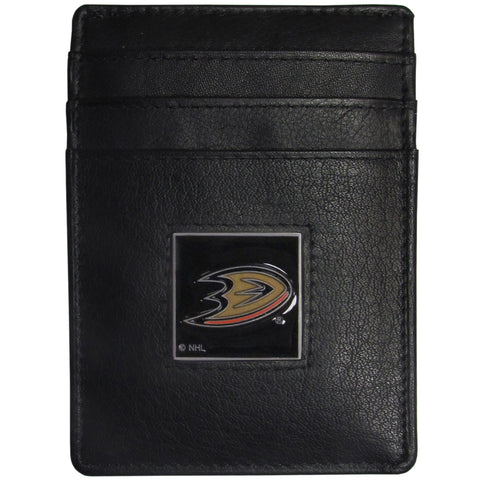 Anaheim Ducks® Leather Money Clip/Cardholder Packaged in Gift Box