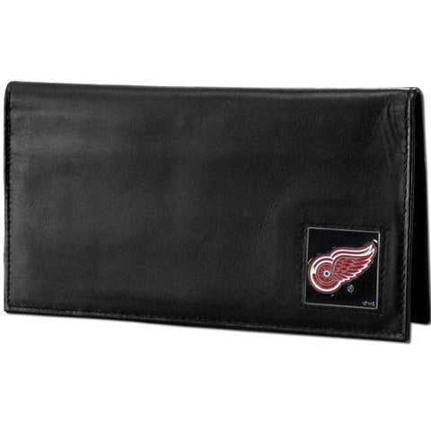 Detroit Red Wings® Deluxe Leather Checkbook Cover