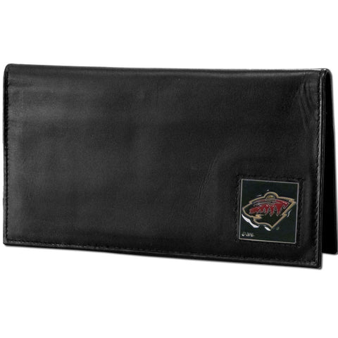 Minnesota Wild® Deluxe Leather Checkbook Cover