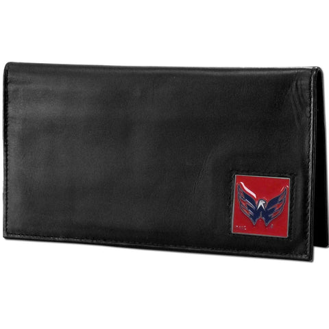 Washington Capitals® Deluxe Leather Checkbook Cover