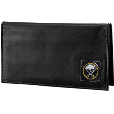 Buffalo Sabres® Deluxe Leather Checkbook Cover