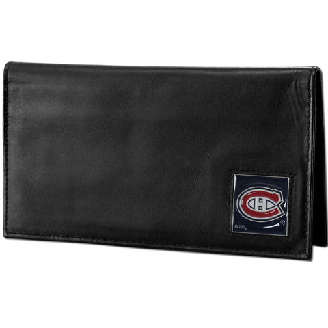 Montreal Canadiens® Deluxe Leather Checkbook Cover
