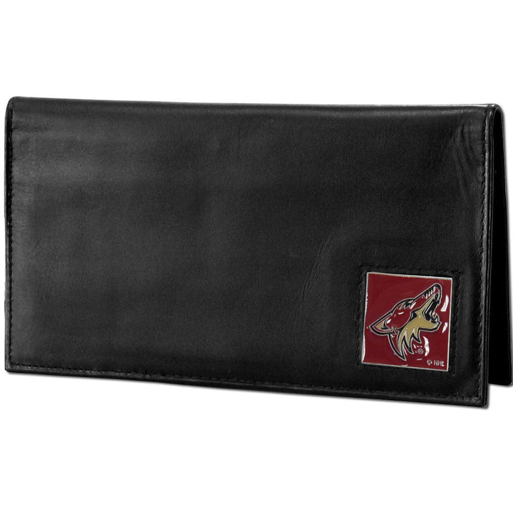 Arizona Coyotes® Deluxe Leather Checkbook Cover