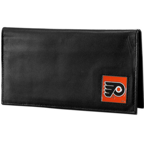 Philadelphia Flyers® Deluxe Leather Checkbook Cover