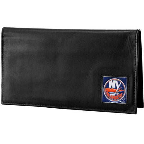 New York Islanders® Deluxe Leather Checkbook Cover