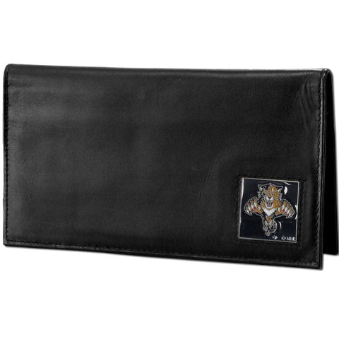 Florida Panthers® Deluxe Leather Checkbook Cover