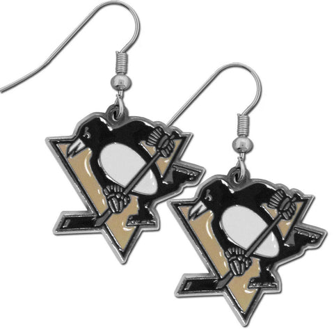 Pittsburgh Penguins® Chrome Dangle Earrings