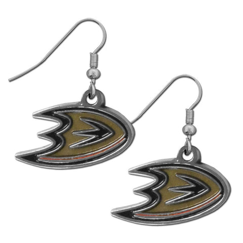 Anaheim Ducks® Chrome Dangle Earrings