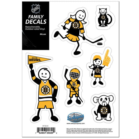 Boston Bruins® Family Decal Set Small