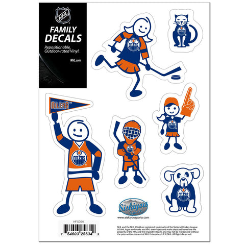 Edmonton Oilers® Family Decal Set Small