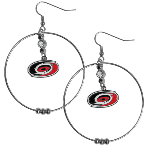 Carolina Hurricanes® 2 Inch Hoop Earrings