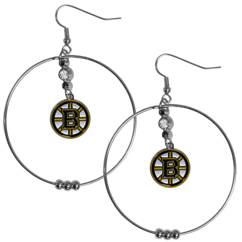 Boston Bruins® 2 Inch Hoop Earrings