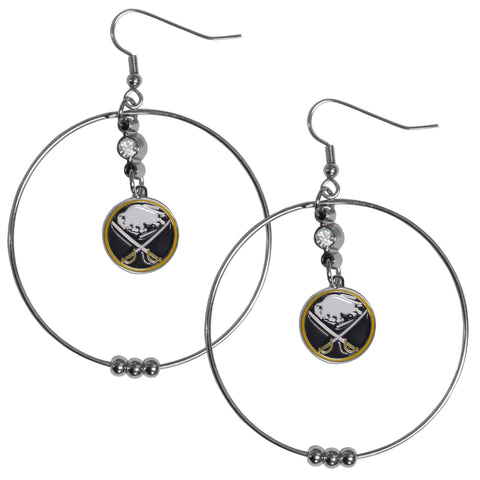 Buffalo Sabres® 2 Inch Hoop Earrings