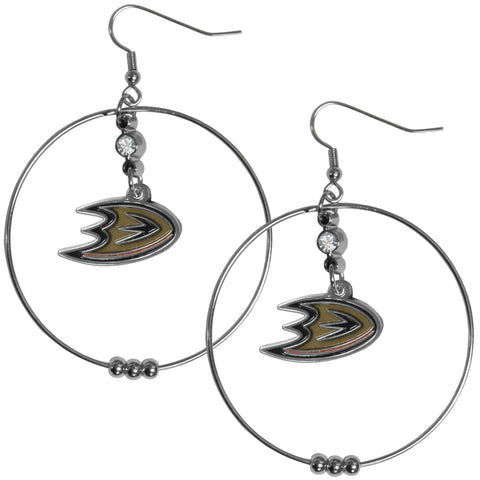 Anaheim Ducks® 2 Inch Hoop Earrings